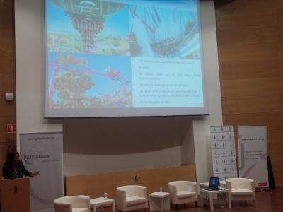 Choni Fernández, de PortAventura World, en un momento de su intervención
