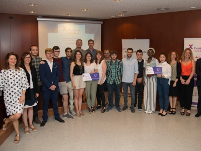 Foto de grup. Lliurament de premis Edició 2018