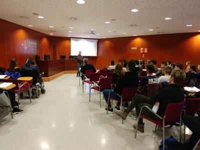 Imatge de la conferència de Carlos Duran