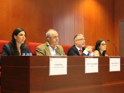 Foto del tribunal integrat per representants de les instituciones promotores del programa